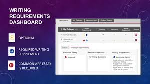 common app lmsa counseling dept getting started commonapp org 25 writing requirements dashboard optional required writing supplement common app essay is required