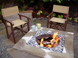 amusing diy outdoor fireplace in center placed with grey pabble near wooden chairs amusing cool diy patio