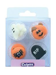 <b>Halloween Theme</b> Sugar Pipings - 12 Pieces - The Vanilla Valley