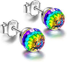 NINASUN Rainbow Princess <b>Women</b> Christmas <b>Earrings</b> Gifts Ball ...