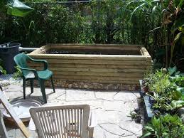 diy patio pond:  finishedpondsmall