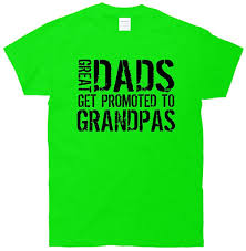 amazon com great dads get promoted to grandpas t shirt clothing