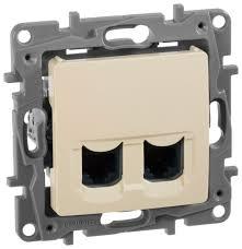 Купить <b>Розетка</b> для интернета / телефона <b>Legrand Etika 672355</b> ...