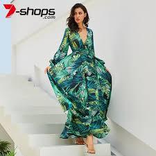 7 shops Summer Beach <b>Maxi Dress Women</b> Deep V Neck Print ...