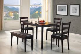dining room bench seating: perfect for an apartment or small dining room this five piece bench dining set is
