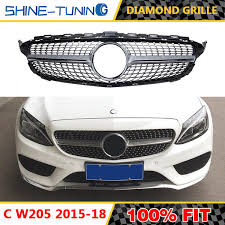 2019 New <b>Diamond Grille</b> Without Centre Logo Suitable for <b>C Class</b>