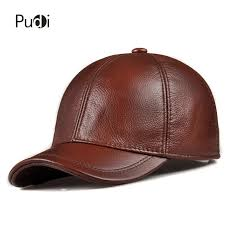 HL130 Men's genuine leather baseball cap hat brand new style ...