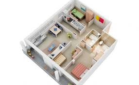 "Three "" "" Bedroom Apartment House Plans   Architecture  amp  Design  small   bedroom house plans"