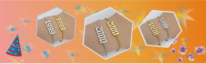 cute custom name chain rose gold personalized letter kids