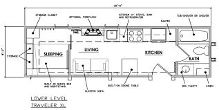 ESCAPE Traveler XL Tiny House on WheelsTraveler XL THOW Floor Plan