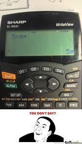 Thanks A Lot Calculator by LikeaBoss - Meme Center via Relatably.com