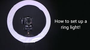 How To Set Up A Ring Light - YouTube