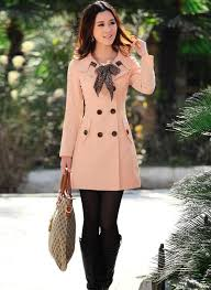 <b>Clearance</b> Sale - <b>Double Breasted Trench</b> Coat with Leopard Scarf ...