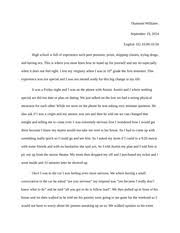 essay   the effects of peer pressure  final draft   mccleod     pages experience essay