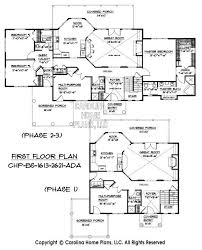 Build in Stages Story House Plan BS     AD Sq Ft   Story    BS    First Floor Plans