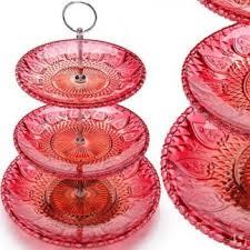 Купить Ваза-<b>конфетница MAYER & BOCH</b>, 3 яруса, малиновый ...