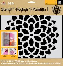 peony allover floral pattern wall decor stenciling