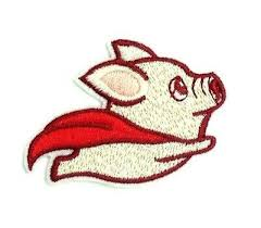 <b>1pc</b> Fly Dog Pig Embroidered <b>Sew On</b> Iron On Patch Badge Clothes ...