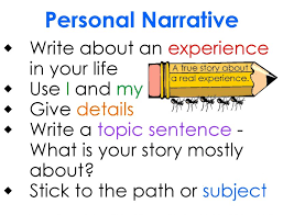personal narratives essays narrative writing for highschool