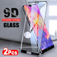 2pcs lot 9d full glue cover tempered glass for samsung galaxy m20 m10 m 20 10 screen protector film