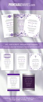 best ideas about engagement invitation template purple and silver wedding invitation templates for microsoft word printable and editable all diy