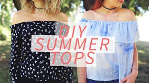 DIY <b>OFF</b>-THE-<b>SHOULDER SHIRT</b> | <b>SUMMER</b> DIY | THE SORRY ...