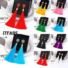 Canis - Women Fashion <b>Vintage Tassel Earrings Bohemian</b> Dangle ...