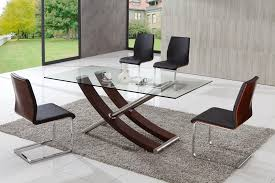 modern glass dining set