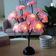 2019 New <b>Led</b> Camellia Flower <b>Branch Lamp</b> Decoration Table ...