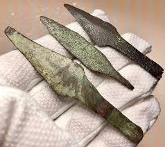 Prehistoric, Bronze Age Bronze / Lot of 3 Large Bronze Age ...