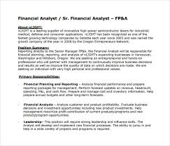 sample financial analyst resume      documents in pdf  wordsenior financial analyst resume