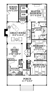 ideas about Narrow House Plans on Pinterest   Small House    Narrow Lot  Roomy Feel  HWBDO     Tidewater House Plan from BuilderHousePlans com