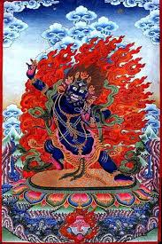 Thangka Painting of the Wrathful Deity - Vajrapani | <b>Тибетское</b> ...