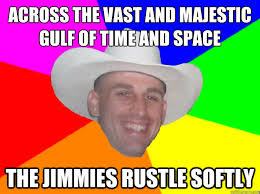 across the vast and majestic gulf of time and space the jimmies ... via Relatably.com