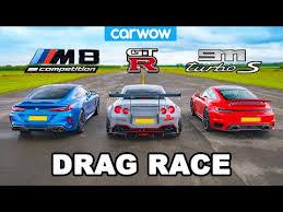 New 911 vs GT-R <b>NISMO</b> vs Audi R8 vs BMW M850i - DRAG RACE ...
