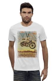 Футболка Wearcraft Premium Slim Fit <b>Vintage Motorcycle</b> Show ...