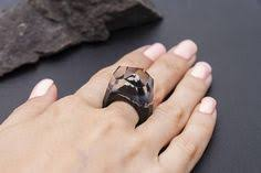 <b>Wooden resin ring Soul</b> of the Forest Eco epoxy jewelry Green ...