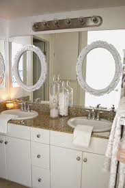 bathroom refresh: the only other items i added were  new clear glass soap dispensers  and  new white hand towels  we had everything else already