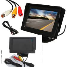 <b>4.3 Inch LCD</b> Car Rear View Monitor <b>Screen</b> Reverse Camera Kit ...