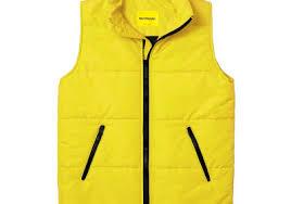 Мужской утепленный жилет Simple Vest Yellow, купить ...