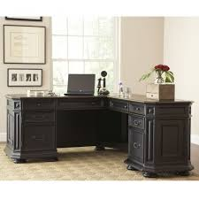 decoration ideas angelic design ideas using rectangular brown rugs and l shaped black wooden desks shaped wood desks home