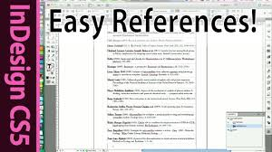 indesign easy reference list and citation of scientific papers indesign easy reference list and citation of scientific papers cs5 tutorial part 8