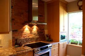 feature wall in kitchen