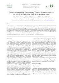 Changes in Essential Oil Composition of Oregano (Origanum onites ...