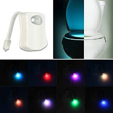 LED <b>Toilet</b> Night Light, 8 <b>Colors</b> Changing <b>Bathroom</b> Motion Sensor ...