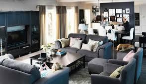dark blue sofa in spacious modern living room get the best living room designs blue dark trendy living room