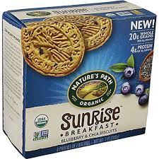 Nature's Path <b>Organic Sunrise Breakfast</b> Blueberry & Chia Biscuits ...