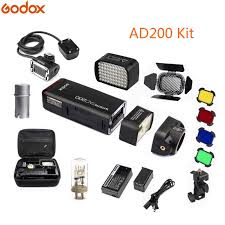 <b>Godox</b> 2Pcs <b>AD200</b> Kit 200Ws <b>2.4G TTL</b> Pocket Flash Strobe 1/8000 ...