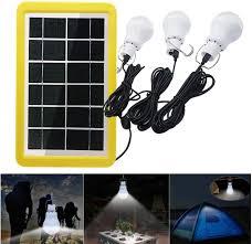 3w Rechargeable <b>Solar Panel</b> Powered <b>Led</b> Bulb Lamp Home ...