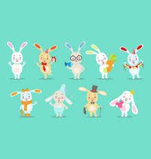 Birthday Gift <b>Little Rabbits</b> Vector Images (over 280)